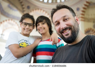 Father and sons portrait