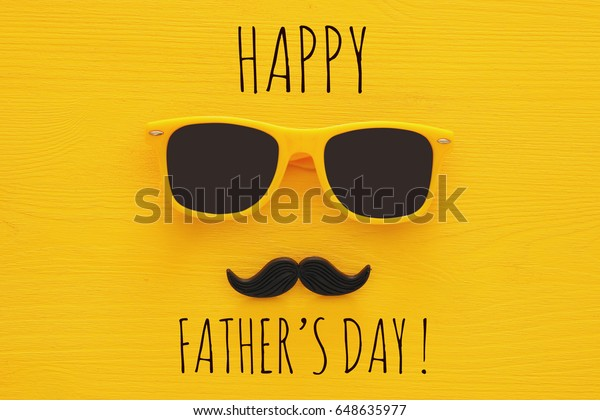 c69e190f0 Fathers Day Concept Hipster Yellow Sunglasses Stock Photo (Edit Now ...