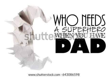 Fathers Day Message Made White Origami Stock Photo Edit Now
