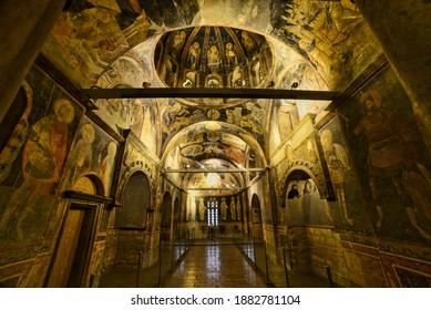 Fatih, Istanbul, Turkey, 25.12.2020, Chora Church Museum (Kariye Müzesi)  is a medieval Greek Orthodox church