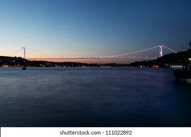 Fatih Sultan Mehmet Bridge in Istanbul,Turkey