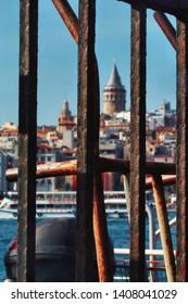 İstanbul / Fatih - Eminönü / Turkey 23.04.2019 Iron through Galata Tower