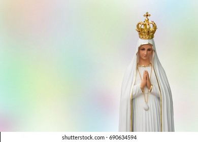 Fatima our lady 100th anniversary on colourful background