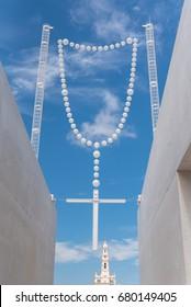 Fatima in Portugal, giant rosary, catholic church