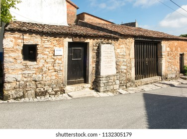 Fatima, Portugal, June 12, 2018: Building in Aljustrel near Fatima in Portugal, the family home of the siblings of saints Jacinta and Franciszek Marto, who experienced the Marian apparitions at Fatima