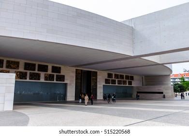 FATIMA, PORTUGAL - OCT 16, 2016: Touristic center, Sanctuary of Fatima, Portugal. Important destinations for the Catholic pilgrims and tourists