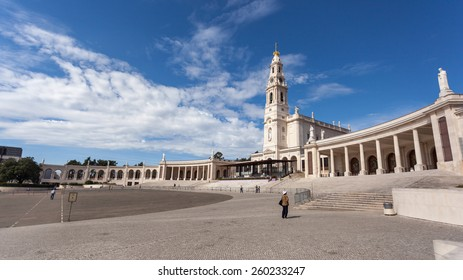 FATIMA, PORTUGAL - SEPTEMBER 18, 2012: View of the Sanctuary of Our Lady of the Rosary of Fatima, Portugal.