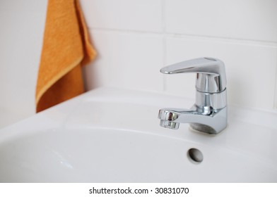 faucet in the bathroom