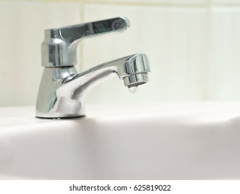 The faucet is not properly closed, the water is draining from the tap. It is a small problem for every home. Let's save water!