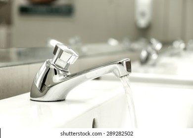 Faucet in the Restroom
