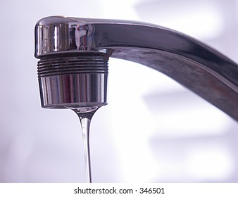 faucet with water