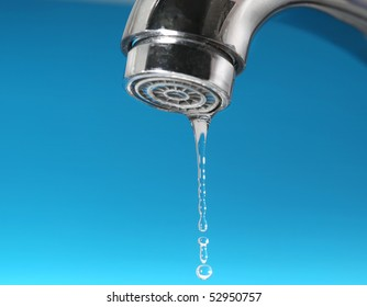Faucet and water drops