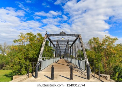 Faust Street Bridge in New Braunfels, Texas. You can walk accross it and take in the views of the of the Guadalupe River. It was used as a crossing for traffic from Austin to San Antonio in the 1800's