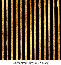 Faux Gold Foil Glitter on Black Texture Pattern