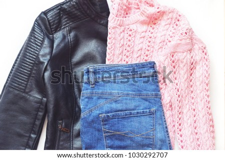 c310b6f4427a Faux Leather Biker Jacket Pastel Pink Stock Photo (Edit Now ...