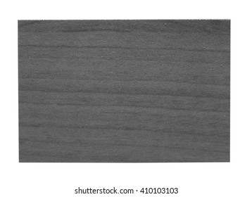 Faux wood sample isolated over white background in black and white