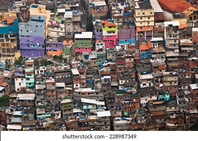 Favela da Rocinha, the Biggest Slum (Shanty Town) in Latin America. Located in Rio de Janeiro, Brazil, it has more than 70,000 inhabitants.