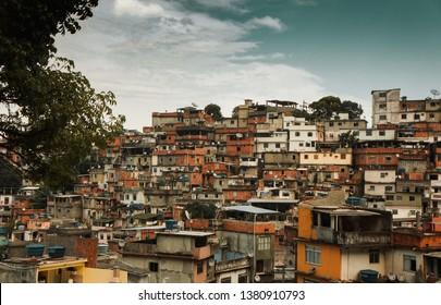 the favelas or slums of rio de janeiro