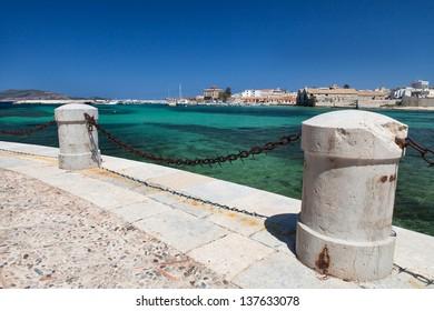 Favignana port view, Aegadian Island, Italy