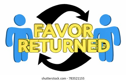 Favor Returned People Share Returning Thanking 3d Illustration