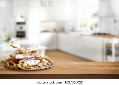 Faworki, traditional Polish carnival sweets, Fat Thursday, Angel Wings
