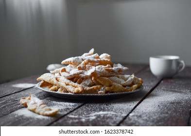 Faworki, traditional Polish sweets, Fat Thursday, Angel Wings