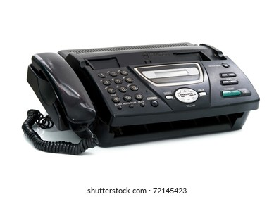 fax is isolated on a white background
