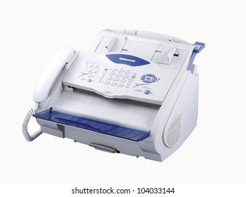 fax machine with clipping path