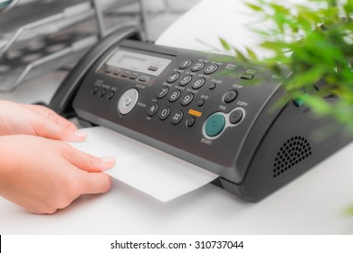 Fax machine, office