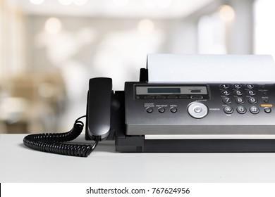 Fax machine in office