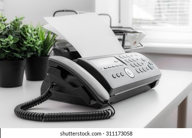 Fax machine, office equipment