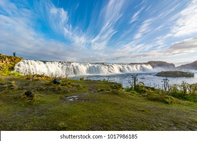 Faxi or Vatnsleysufoss waterfall in south Iceland Golden Circle