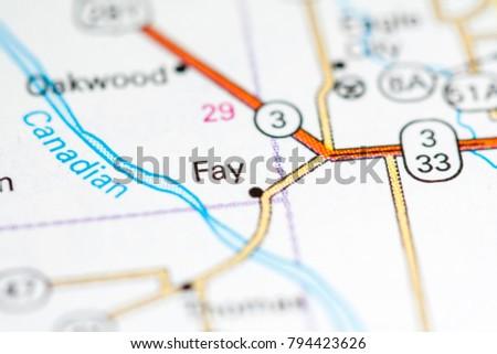 Fay Oklahoma Usa On Map Stock Photo Edit Now 794423626 Shutterstock