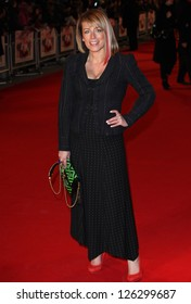 Faye Ripley arriving for the 'I Give It A Year' premiere, at the Vue Leicester Square, London. 24/01/2013 Picture by: Alexandra Glen
