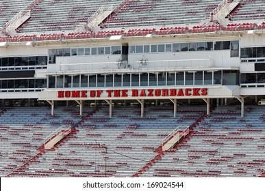 FAYETTEVILLE, AR - OCTOBER 4: The Donald W. Reynolds Razorback Stadium sits empty on October 4, 2012. The stadium is home to the University of Arkansas Razorbacks football team.