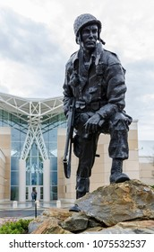 FAYETTEVILLE, NC - January 12, 2012: Iron Mike Statue dedicated to WWII Soldiers originally at Fort Bragg now at ASOM