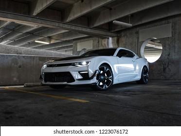 Fayetteville, NC USA- Nov 3 2018: My 2018 Camaro SS 1LE Project Car