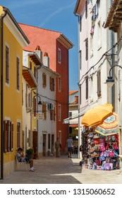 FAZANA / CROATIA - AUGUST 2015: Street in the old town of Fazana, Istria, Croatia