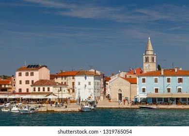 FAZANA / CROATIA - AUGUST 2015: View to the bay of Fazana town in Istria, Croatia