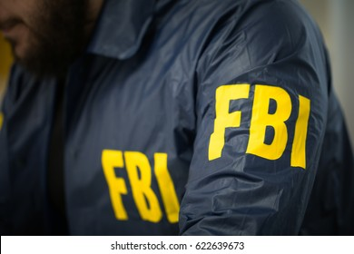 FBI agent man in his office in uniform, part of
