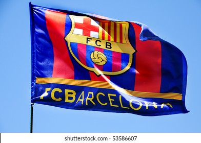 barcelona flag images stock photos vectors shutterstock https www shutterstock com image photo fc barcelona flag waving on wind 53586607