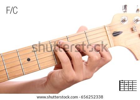 Fc Guitar Keys Tutorial Series Closeup Stock Photo Edit Now