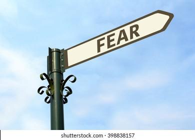 FEAR WORD ON ROADSIGN