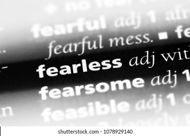 fearless word in a dictionary. fearless concept