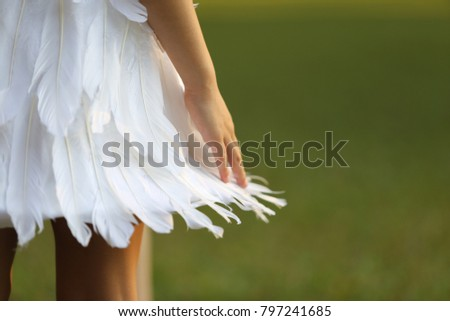 feather cloth for kid