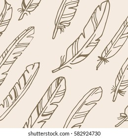 Feather colorful seamless background