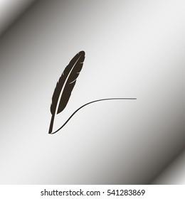 Feather icon.