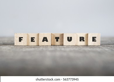 FEATURE word made with building blocks