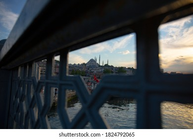Featured close-up shots of the Bosphorus in Istanbul, showing the famous landmarks - Shutterstock ID 1824792065