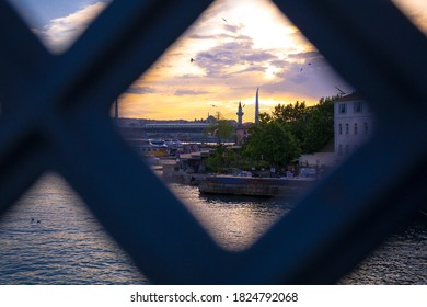 Featured close-up shots of the Bosphorus in Istanbul, showing the famous landmarks - Shutterstock ID 1824792068